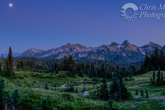 Moonrise over Tatoosh